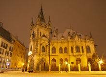 Košice - neo gothic Jakab s palace in winter Stock Image