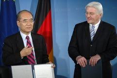 Koichiro Matsuura, Frank Walter Steinmeier Royalty Free Stock Photo