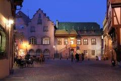 Koifhus nachts Colmar, Frankreich Lizenzfreies Stockfoto