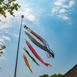 Koinobori japansk flagga Royaltyfria Foton