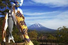 Koinobori and Mount Fuji Royalty Free Stock Photo