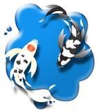 Koiover blauwe vulklei Royalty-vrije Stock Afbeeldingen