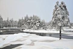 Koitelinkoski flod Kiiminkijoki Fotografering för Bildbyråer