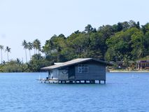 Koja i havet/Thailand Fotografering för Bildbyråer