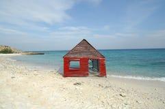 Koja på stranden Royaltyfria Foton