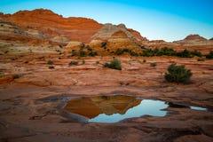 Kojote Buttes in den Zinnoberrot-Klippen Arizona Lizenzfreie Stockfotografie