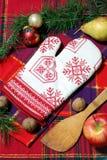 Kok bij Kerstmis Stock Foto's