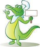 Kok croc royalty-vrije illustratie