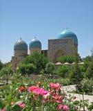 Kok Gumbaz清真寺在Shakhrisabz,乌兹别克斯坦 免版税库存照片