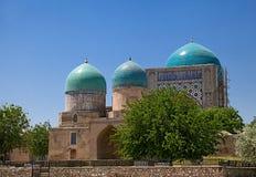 Kok Gumbaz清真寺,乌兹别克斯坦 免版税库存照片