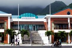 Kok Islands Minister van de Rechtvaardigheidsbouw in Avarua Rarotonga Stock Afbeelding