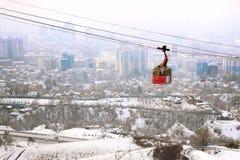 Kok-tobe montering i Almaty, Kasakhstan Royaltyfri Fotografi