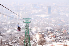 Kok-tobe mount in Almaty, Kazakhstan Stock Photography