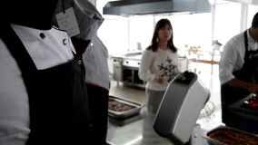 Kok Uniform van goed restaurant stock footage