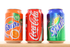 Koka-kola, Fanta, Sprite Obrazy Royalty Free