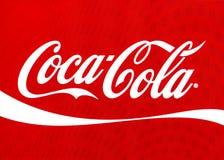 koka-kola logo na ekranie komputerowym Zdjęcia Royalty Free