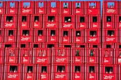 Koka-kola skrzynki, belg gałąź w Ghent Fotografia Royalty Free