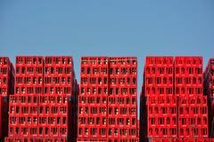 Koka-kola skrzynki, belg gałąź w Ghent Obrazy Stock