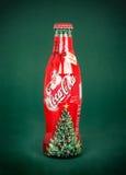 koka-koli butelka Dla Santa, Obrazy Stock