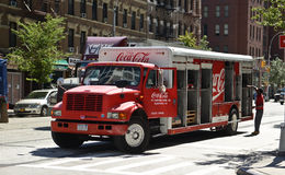 Koka-koli doręczeniowa ciężarówka Obraz Royalty Free
