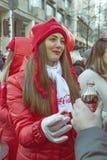 koka-koli promo dziewczyna 4 Zdjęcia Stock