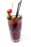 koka-koli szkła lód przejrzysty obraz stock
