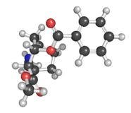 Kokaina kija i balowego model. Bezprawny psychoactive lek Zdjęcia Stock
