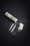 Kokainy narkomania Zdjęcie Royalty Free