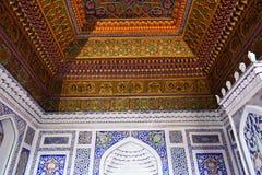 Kokand, Uzbekistan, Silk Route. KOKAND, FERGANA VALLEY, UZBEKISTAN - 04 APRIL 2019: Nice decorated interior the Khudayar Khan Palace, the most popular landmarks royalty free stock image