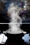 kokande kruka fotografering för bildbyråer