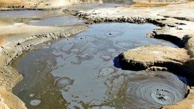 kokande mudpöl arkivfilmer