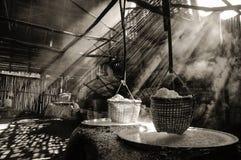 Kokande salta Fotografering för Bildbyråer
