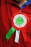 Kokarde met de Italiaanse vlag Stock Foto
