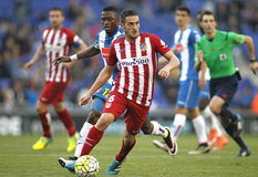 Koke Resurreccion of Atletico Madrid. During a Spanish League match against RCD Espanyol at the Power8 stadium on April 9, 2016 in Barcelona, Spain Stock Image