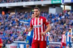 Koke Resurreccion joue à la correspondance de Liga de La entre le RCD Espanyol et l'Atletico De Madrid Photos libres de droits