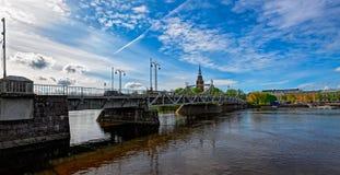 Kokemanjoki river in Pori, Finland Royalty Free Stock Photos
