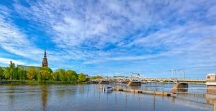 Kokemanjoki river in Pori, Finland Royalty Free Stock Images