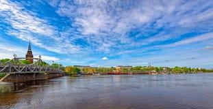 Kokemanjoki rzeka w Pori, Finlandia Zdjęcia Royalty Free