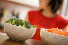 Kokend gezond voedsel Stock Fotografie
