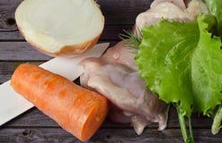Kokend licht voedsel Stock Foto