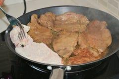 Kokend vlees Stock Fotografie