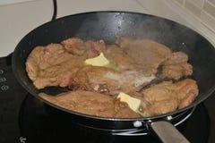 Kokend vlees Royalty-vrije Stock Afbeeldingen