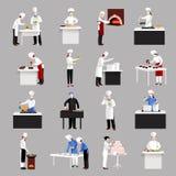 Kokende geplaatste pictogrammen Royalty-vrije Stock Fotografie