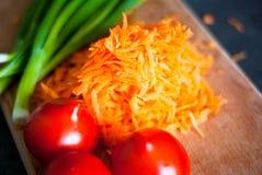 Kokende groenten Stock Foto's