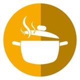 Kokende het voedselschaduw van de pottenkeuken royalty-vrije illustratie