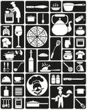 Kokende pictogrammen Royalty-vrije Stock Afbeeldingen