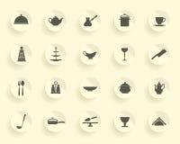 Kokende pictogrammen Royalty-vrije Stock Foto