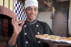 Kokende pizza Royalty-vrije Stock Fotografie
