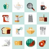 Kokende Voedselpictogrammen Royalty-vrije Stock Foto