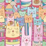 Kokeshi ζωικό πολλοί οριζόντιο άνευ ραφής σχέδιο θέσεων διανυσματική απεικόνιση